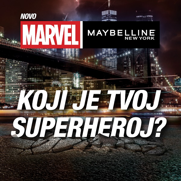 Upoznaj Marvel x Maybelline New York superheroje