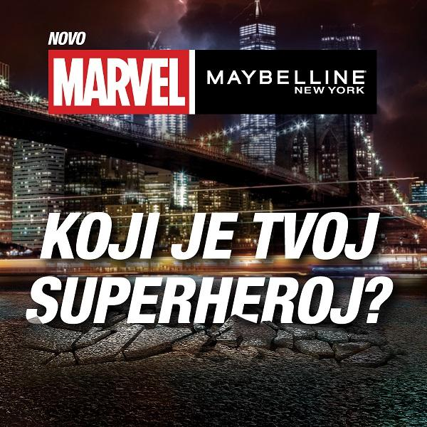 Upoznaj Marvel x Maybelline New York superheroje