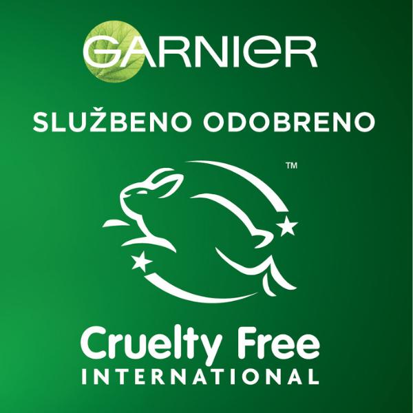 Garnier ima službenu potvrdu organizacije Cruelty Free International